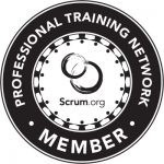 Logo depicts Scrum org PTN member