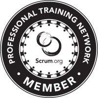 Logo depicts Scrum org PTN member